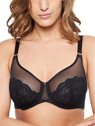 Buy Chantelle Pyramide Full Cup Bra, Black, 34DD Online at johnlewis.com