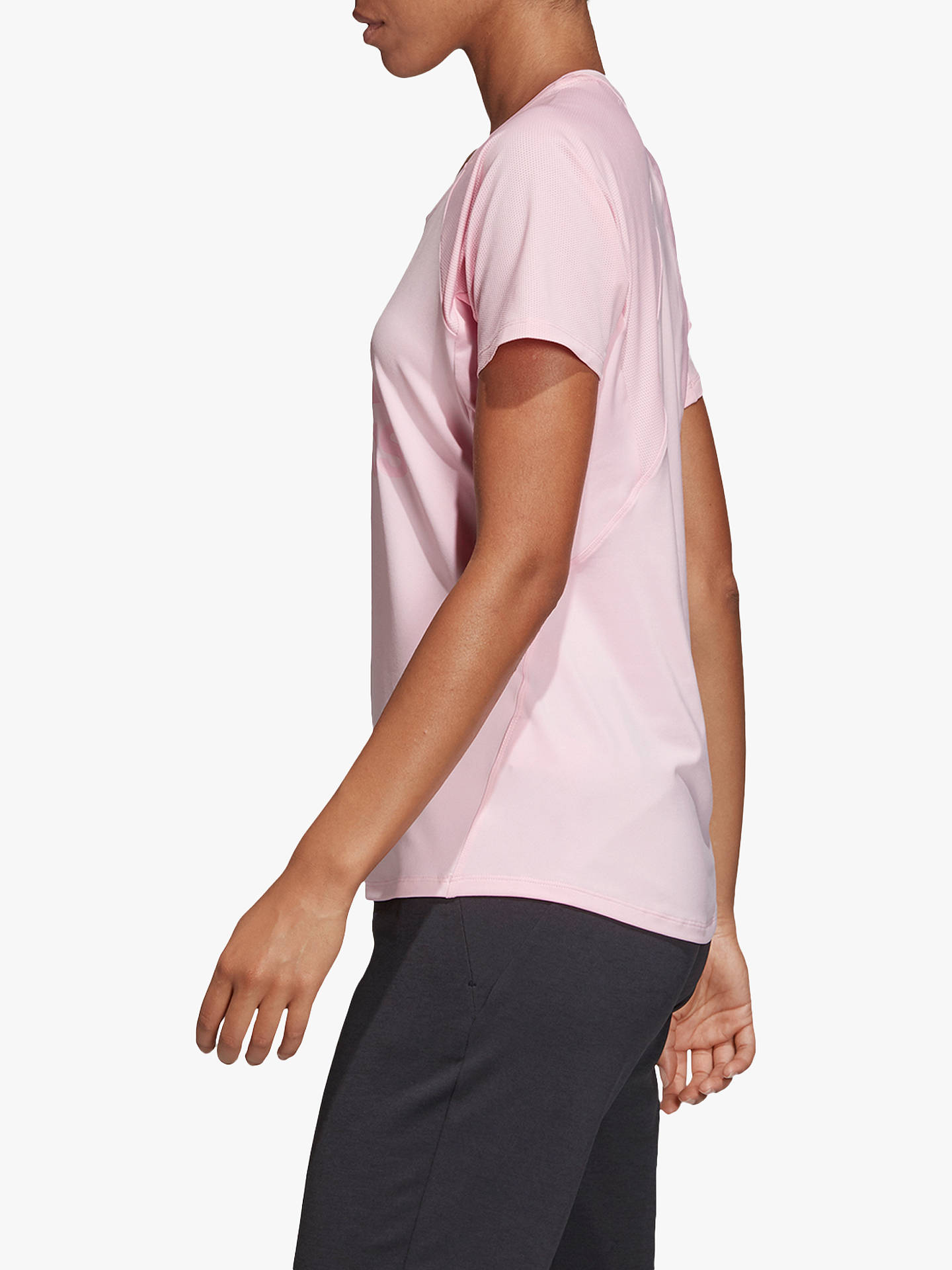 reputable site 1ab8d 7f9fb Buy adidas Training Logo T-Shirt, True Pink, L Online at johnlewis.