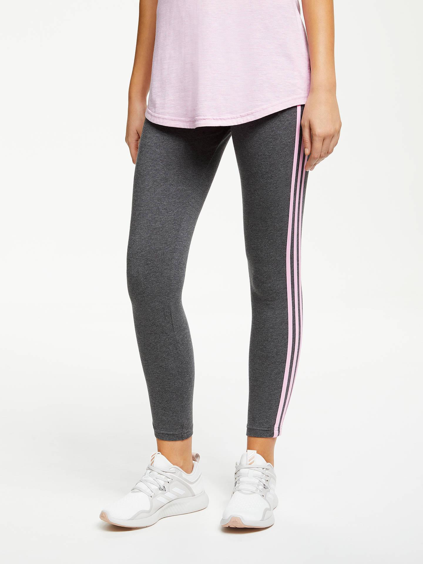 c2ccd1bb0ebbb1 Buy adidas Essential 3-Stripes Tights, Dark Heather Grey/True Pink, M ...
