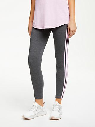 62b0c3e66d8 adidas Essential 3-Stripes Tights, Dark Heather Grey/True Pink