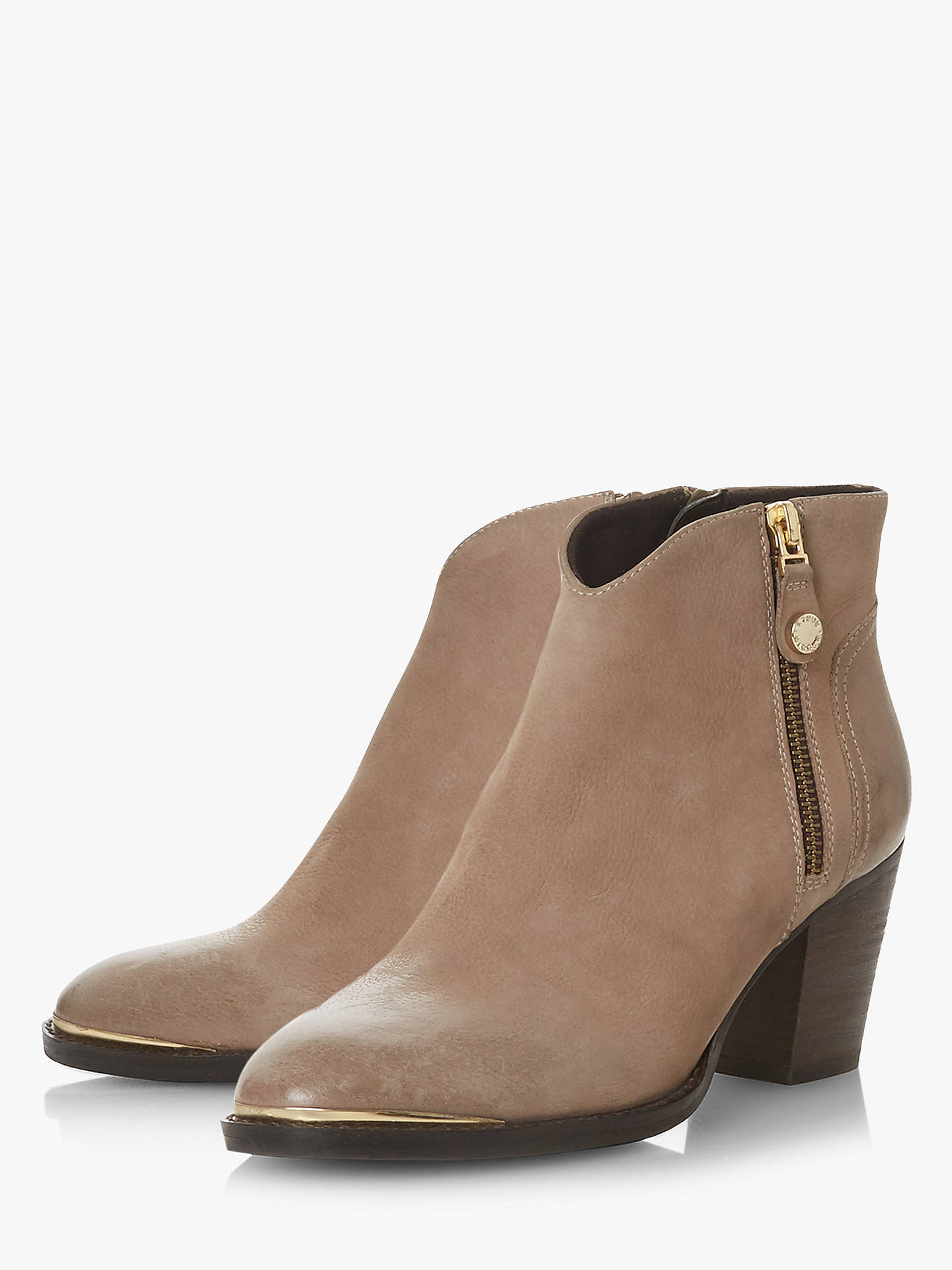 6e82a55944a Steve Madden Francy Ankle Boots, Taupe Leather at John Lewis & Partners