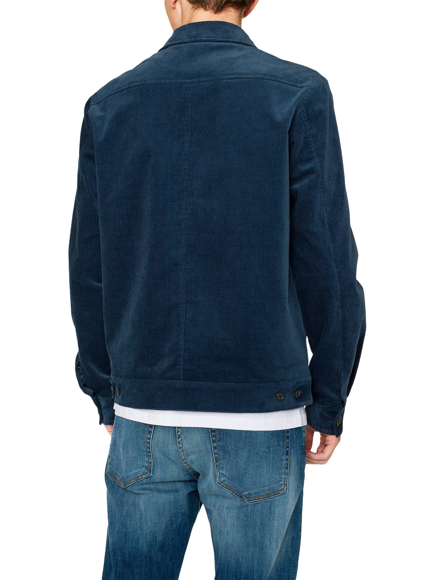 Buy PS Paul Smith Corduroy Harrington Jacket, Blue, S Online at johnlewis.com