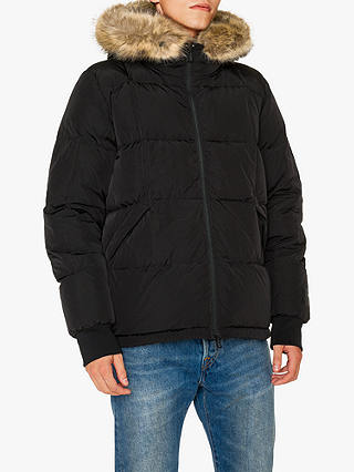 Buy PS Paul Smith Down Puffer Parka, Black, XL Online at johnlewis.com
