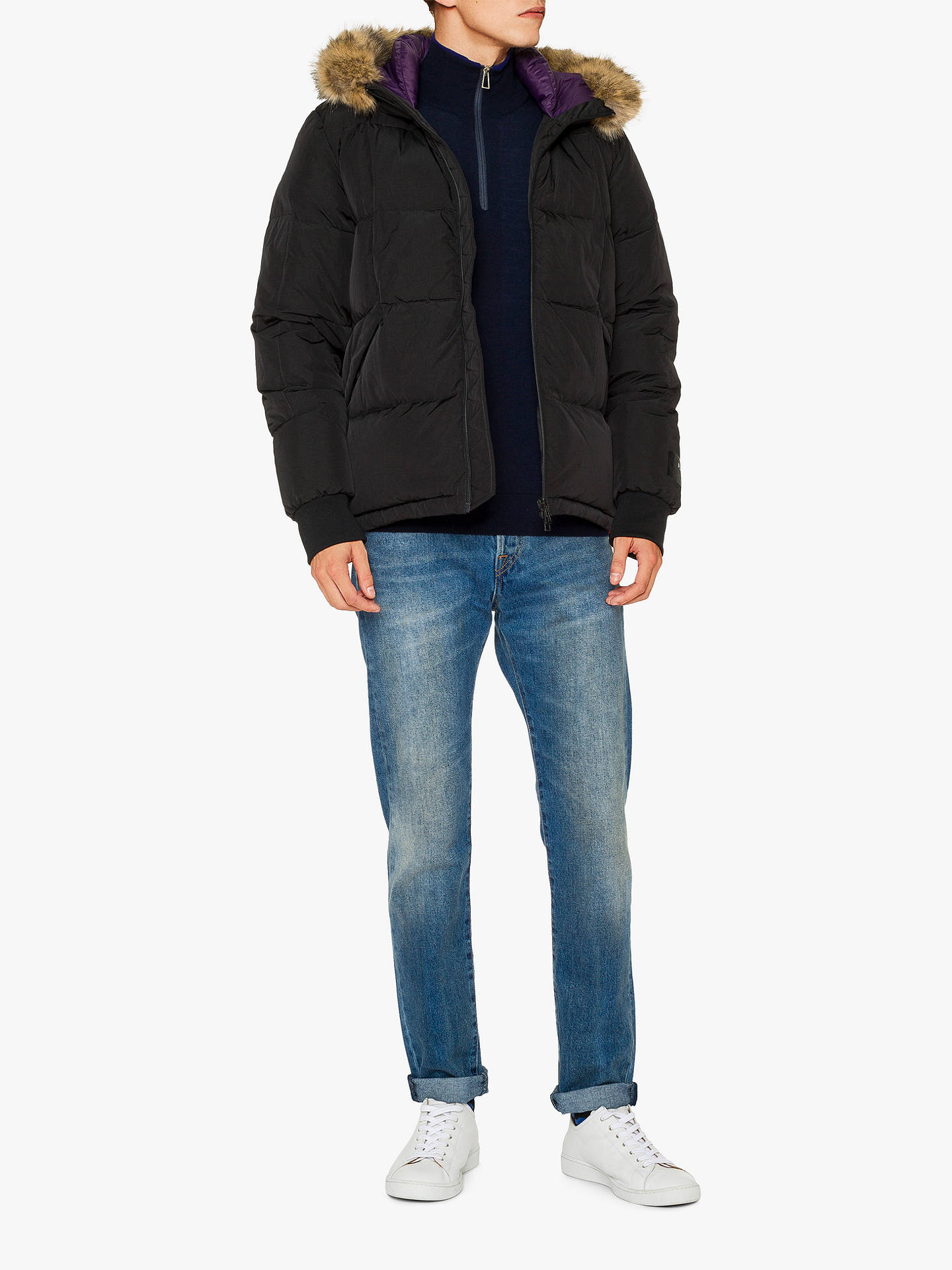 BuyPS Paul Smith Down Puffer Parka, Black, XL Online at johnlewis.com