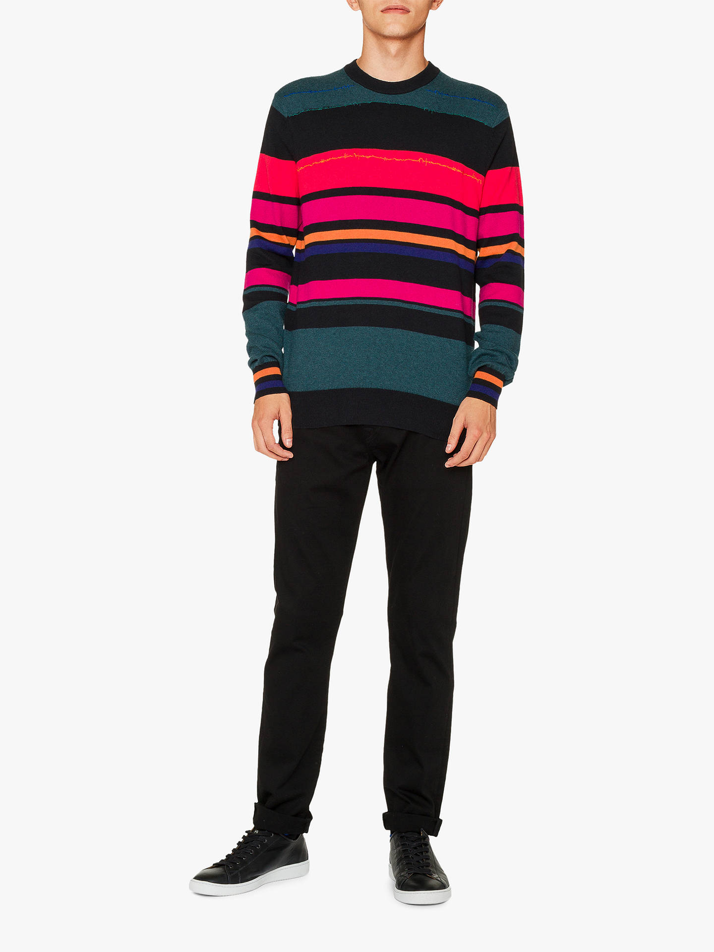 Buy PS Paul Smith Multi Stripe Jumper, Multi, XL Online at johnlewis.com