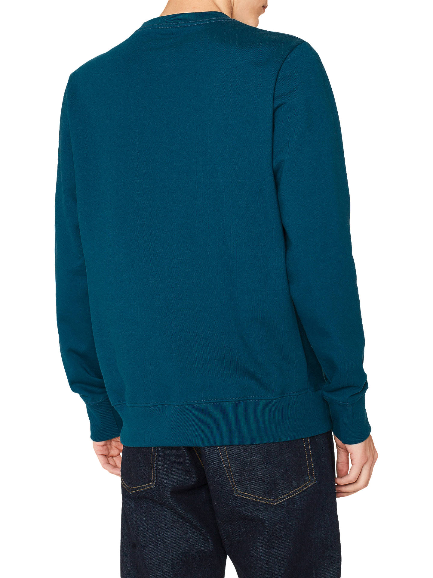 BuyPS Paul Smith Zebra Logo Sweatshirt, Teal, L Online at johnlewis.com