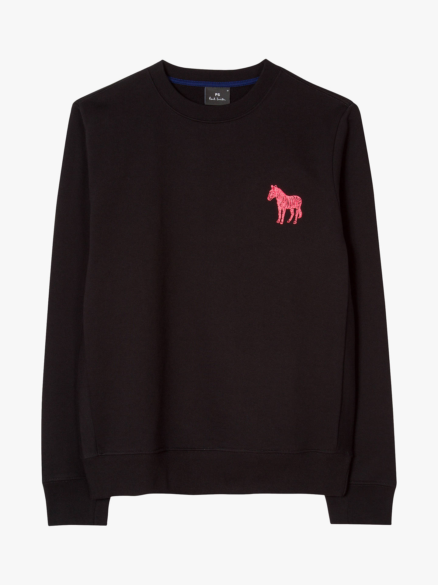 BuyPS Paul Smith Zebra Embroidered Sweatshirt, Black, XL Online at johnlewis.com