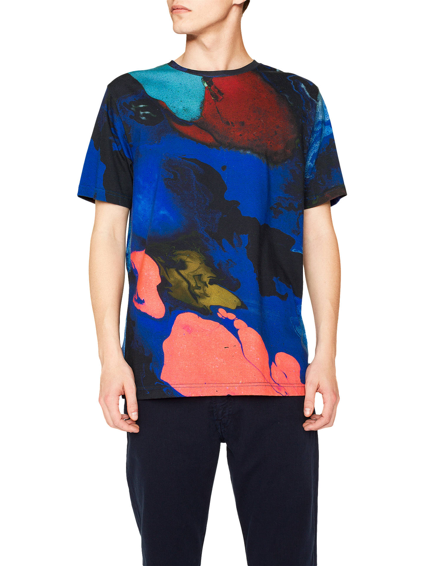 Buy PS Paul Smith Oil On Water Print T-Shirt, Multi, XL Online at johnlewis.com