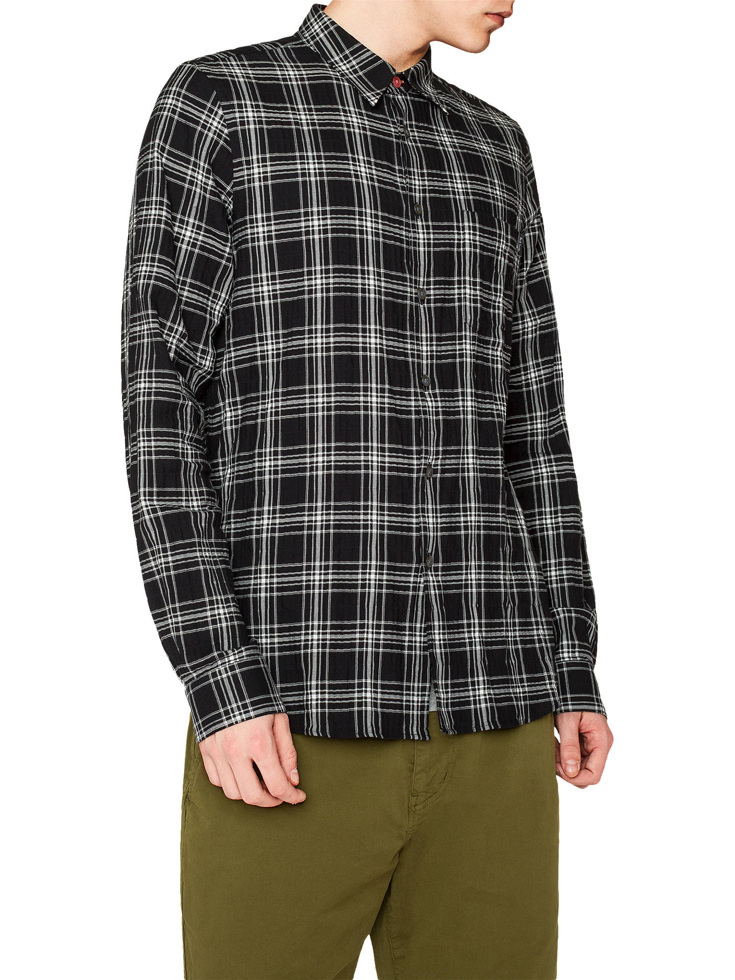 2475a4ee11aefc Buy PS Paul Smith Check Shirt, Black/White, XL Online at johnlewis.