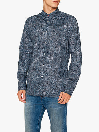 Buy PS Paul Smith Digital Scribble Print Shirt, Navy, M Online at johnlewis.com