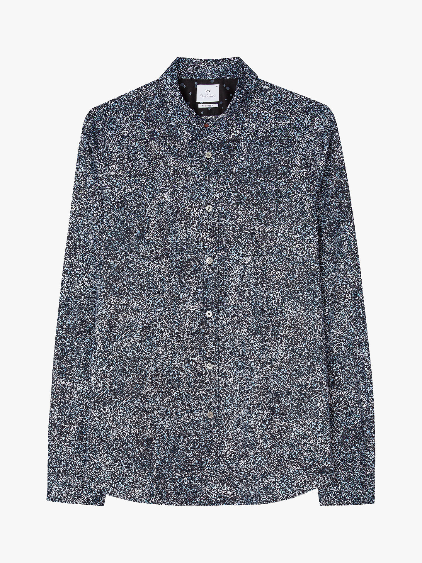 BuyPS Paul Smith Digital Scribble Print Shirt, Navy, M Online at johnlewis.com