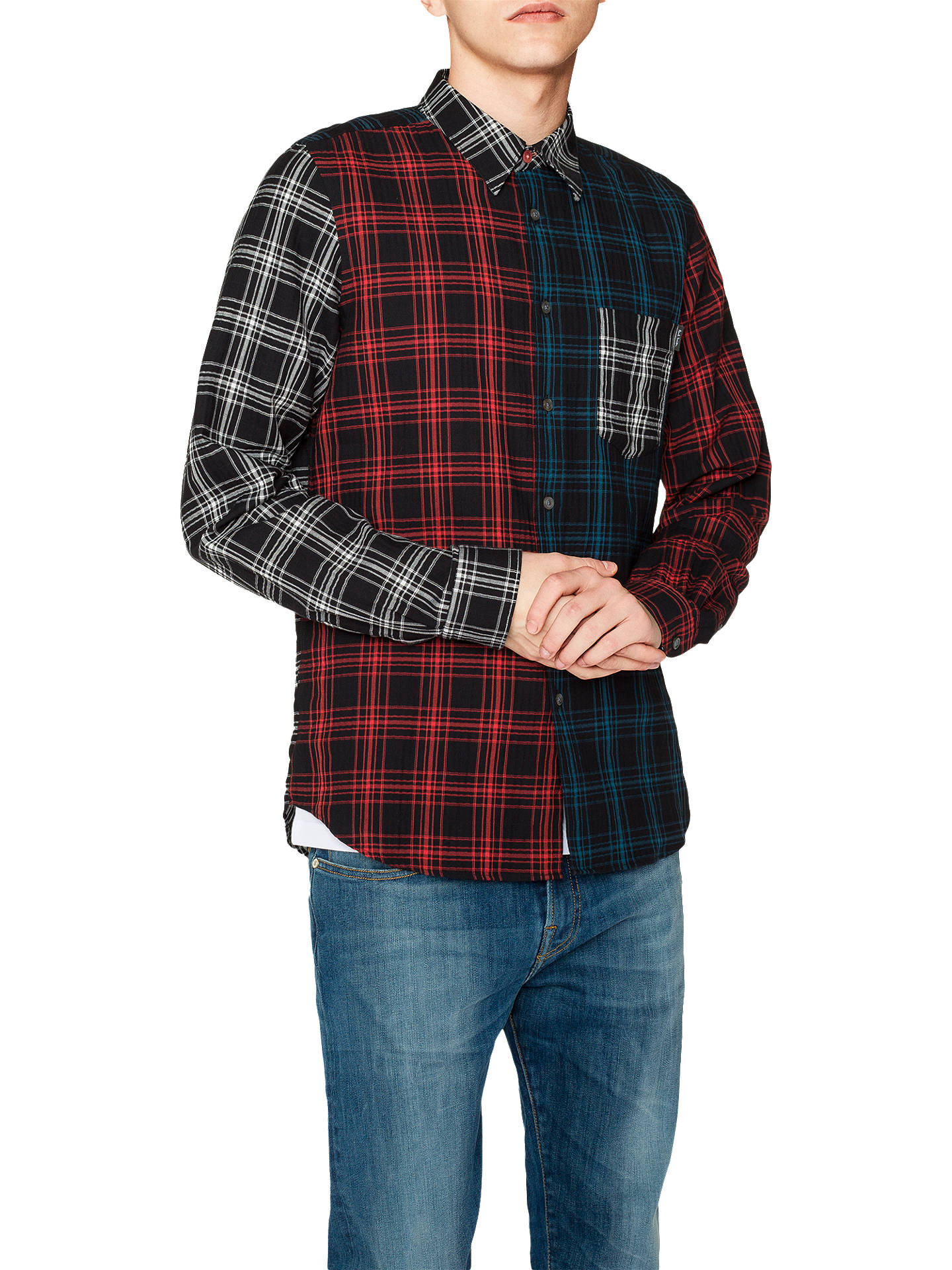 012be02c978862 Buy PS Paul Smith Multi Check Shirt, Multi, XL Online at johnlewis.com ...