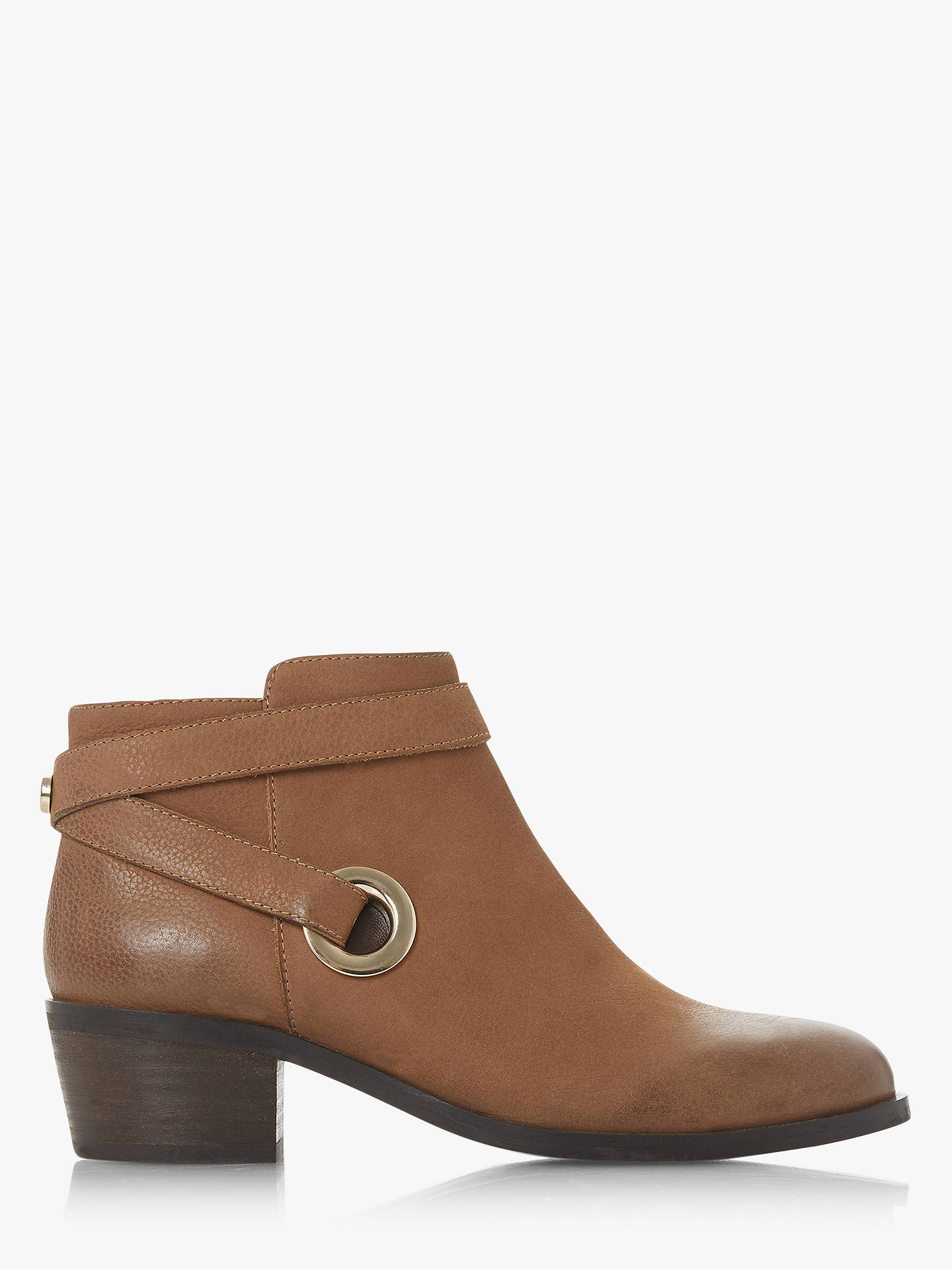 Buy Steve Madden Owald Leather Ankle Boots, Dark Tan, 3 Online at johnlewis.com
