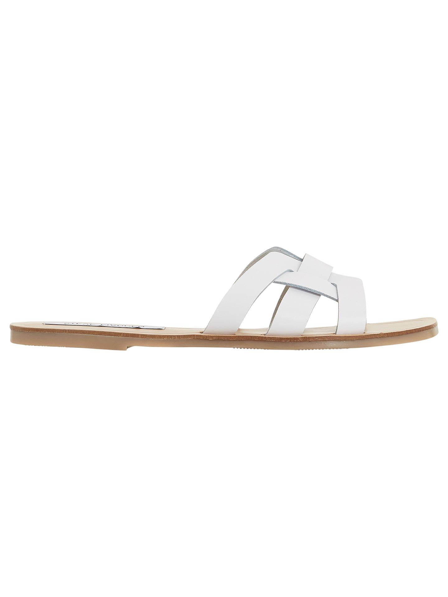 8308970acb7 Steve Madden Sicily Sandals, White Leather at John Lewis & Partners