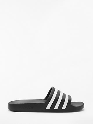 adidas Adilette Aqua Slides Slippers, Core Black/FTWR White