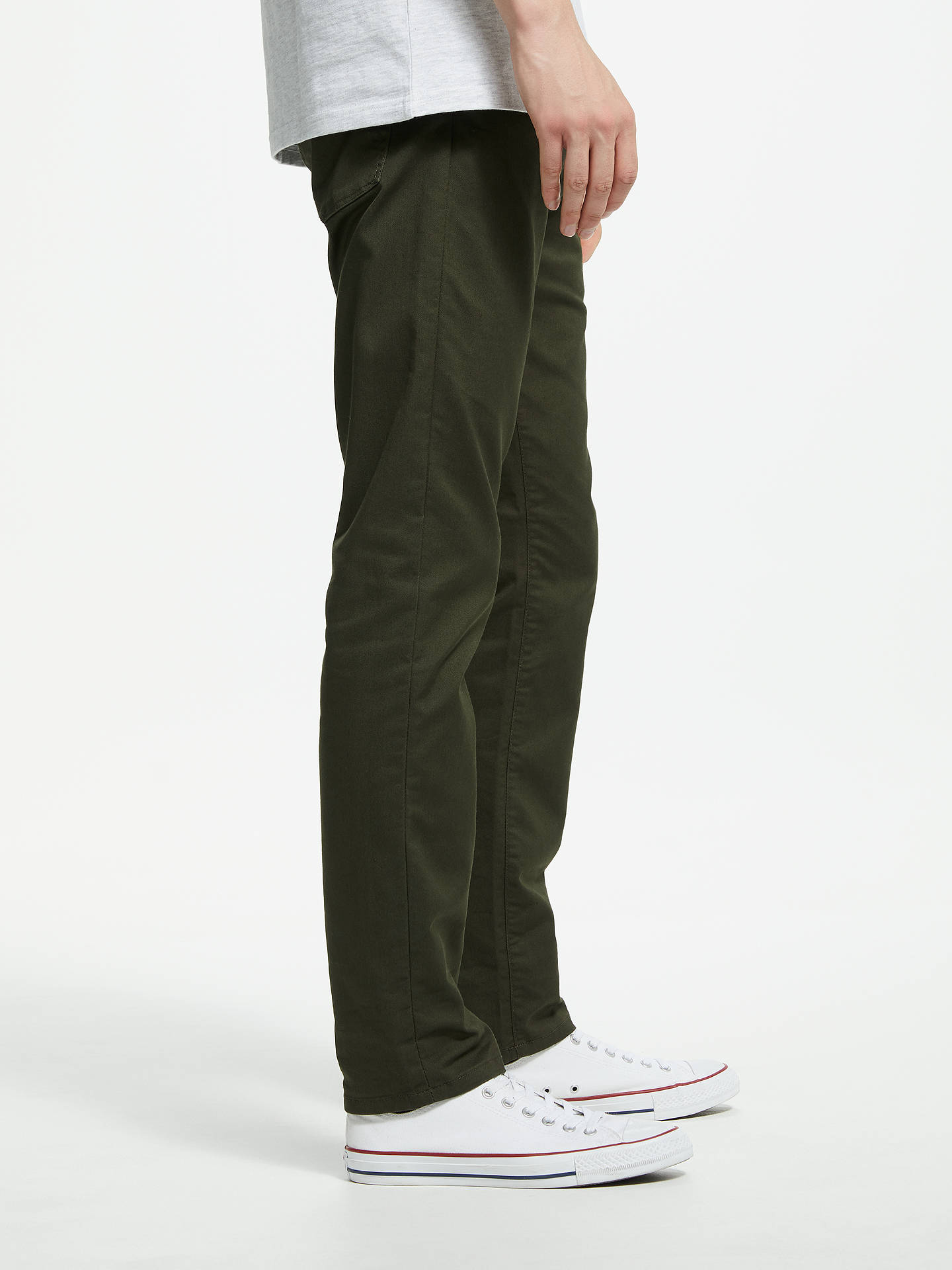 BuyCarhartt WIP Viscous Slim Tapered Chinos, Cypress, 30R Online at johnlewis.com