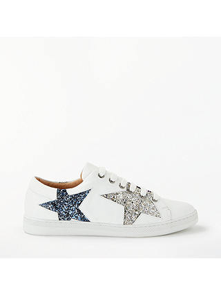 Buy AND/OR Edie Star Trainers, White Leather, 3 Online at johnlewis.com