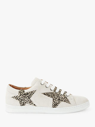 Buy AND/OR Edie Star Trainers, White Suede/Pony, 4 Online at johnlewis.com
