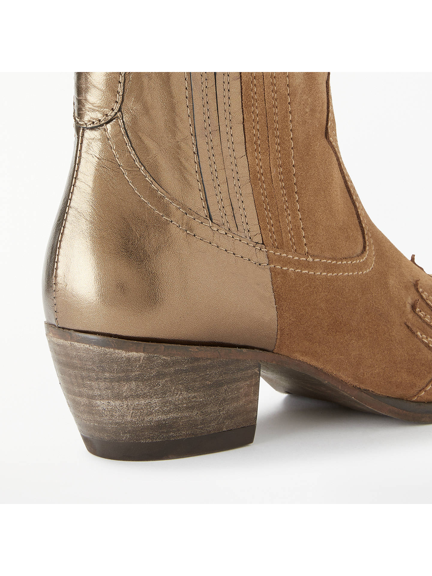 BuyAND/OR Odanda Two Tone Western Boots, Brown Suede/Leather, 8 Online at johnlewis.com