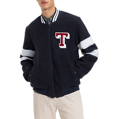 Tommy Jeans Teddy Bomber Jacket, Navy