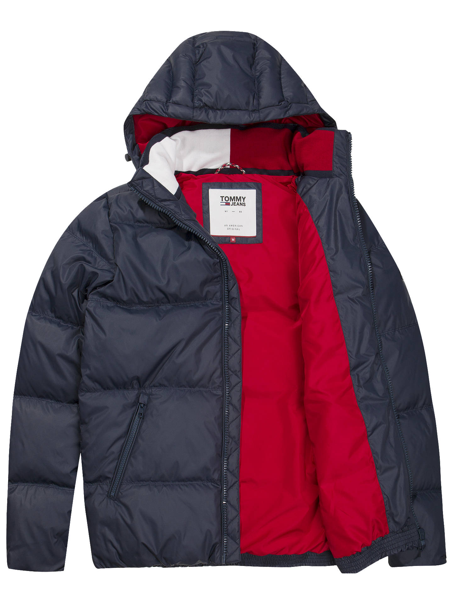 2019 hot sale bright n colour attractive designs Tommy Jeans Essential Down Jacket, Navy at John Lewis & Partners