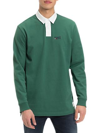 aee85855 Lacoste LIVE Heritage Logo Rugby Top, Green. £145.00. Tommy Jeans Essential Rugby  Shirt, Hunter Green
