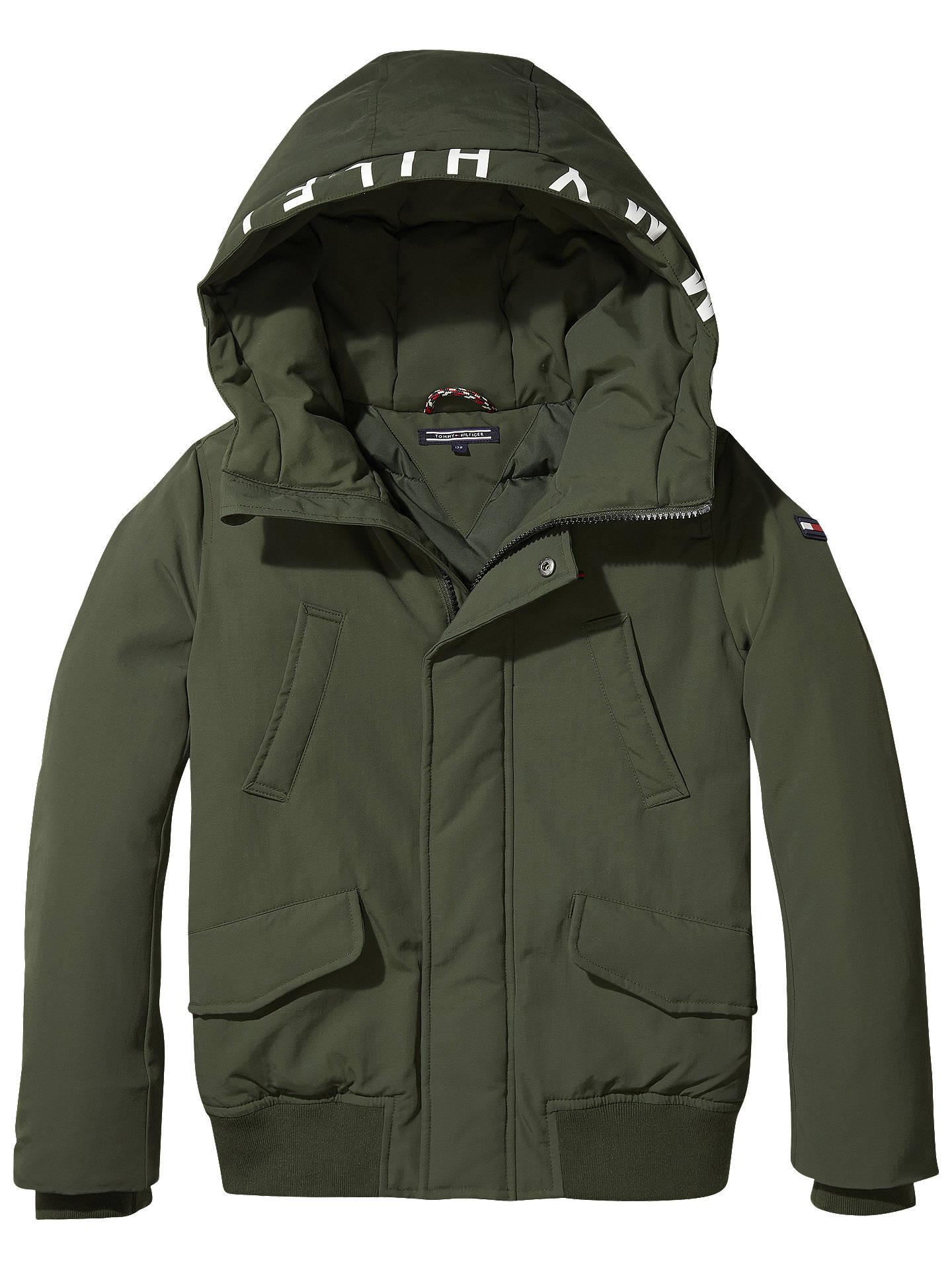 2c182e31c Buy Tommy Hilfiger Boys' Bomber Jacket, Khaki, 6 years Online at johnlewis.