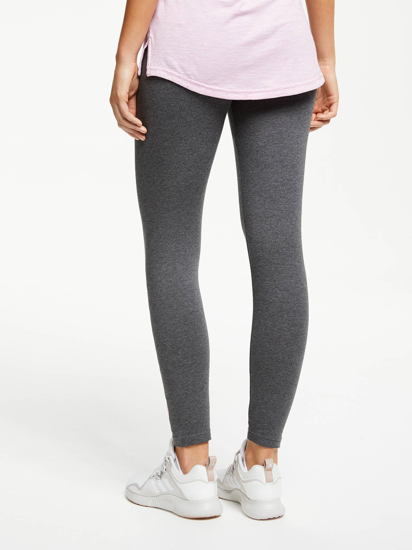 3923a99be2b ... Buy adidas Essentials Linear Tights, Dark Grey Heather/True Pink, S  Online at ...