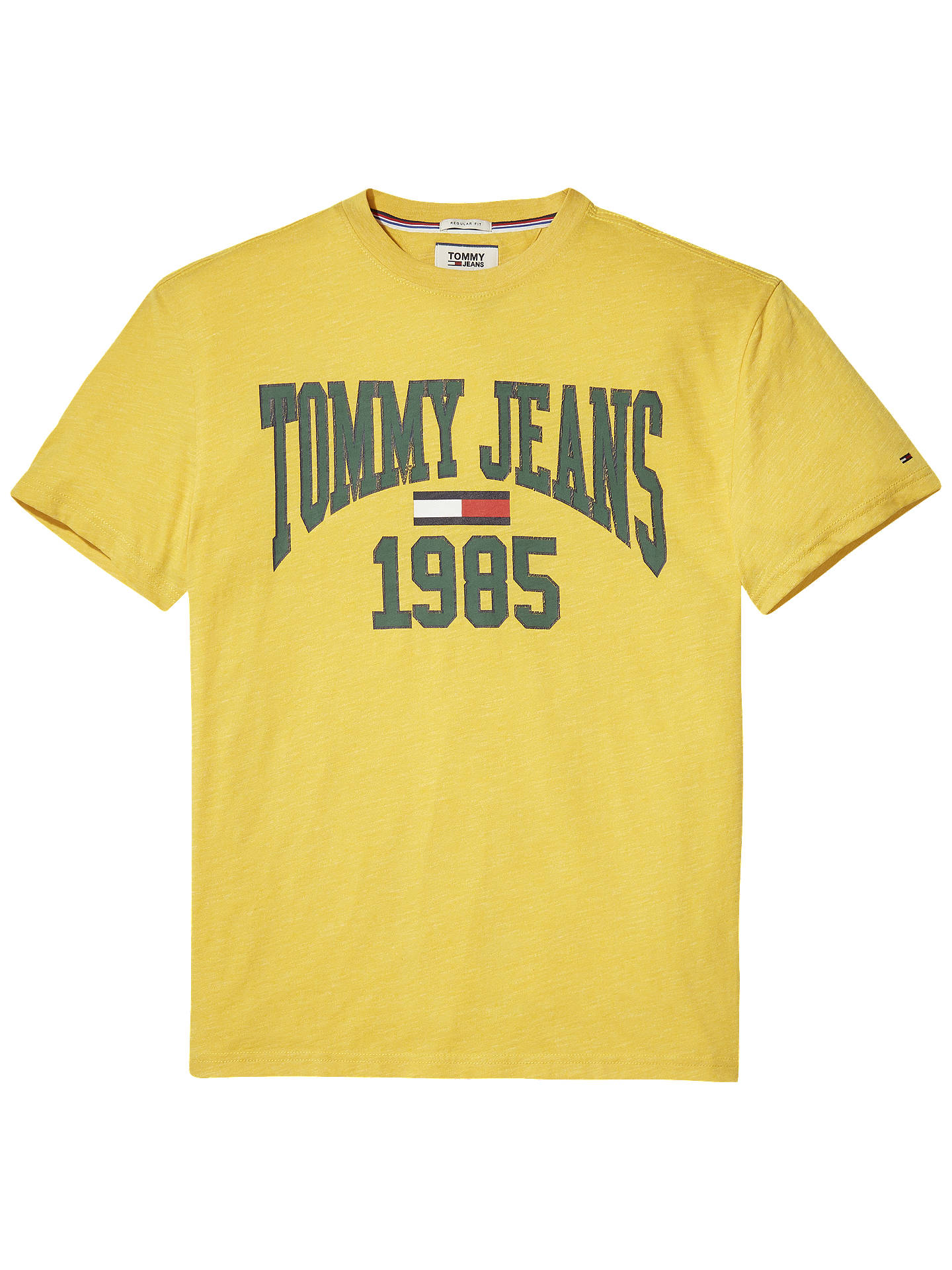 BuyTommy Jeans Collegiate T-Shirt, Spectra Yellow, S Online at johnlewis.com