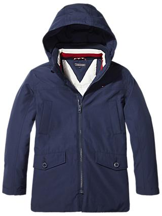 Tommy Hilfiger Boys' Padded Parka, Navy