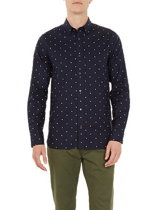 Buy Ted Baker Fruit Fruts Long Sleeve Shirt, Blue, 2 Online at johnlewis.com