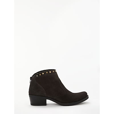 Kanna Kelly Studded Ankle Boots, Deep Taupe Suede
