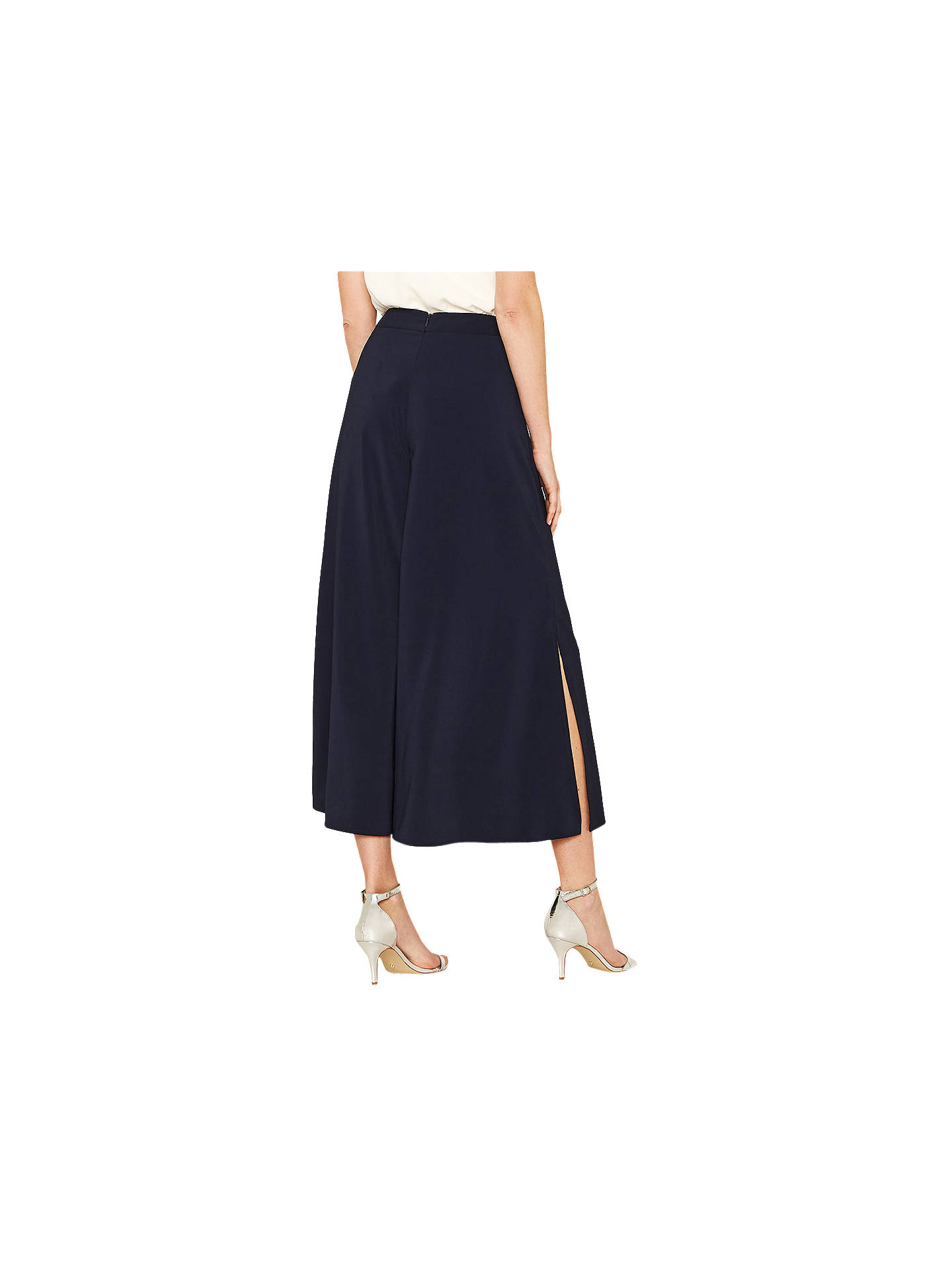 BuyOasis Palazzo Trousers, Navy, 12 Online at johnlewis.com
