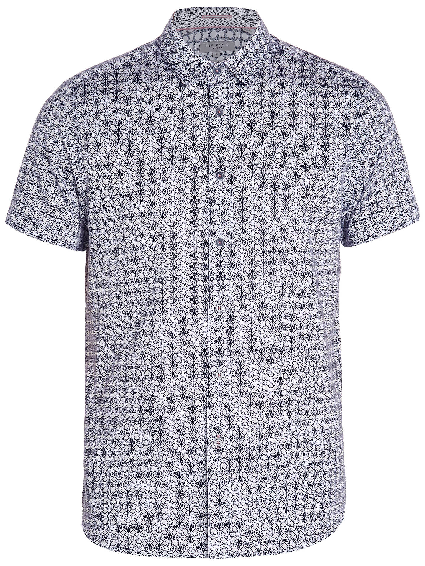 BuyTed Baker Modmo Circle Print Short Sleeve Shirt, Blue, 3 Online at johnlewis.com