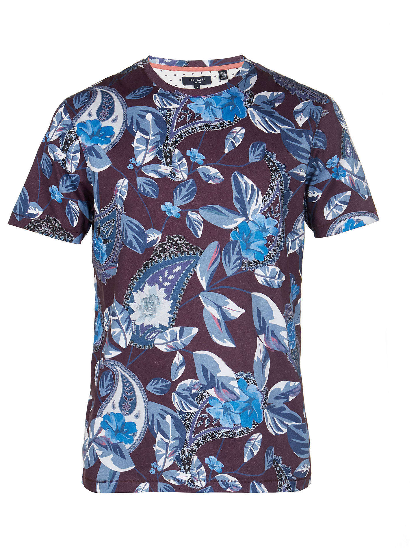 BuyTed Baker Lewii All Over Printed T-Shirt, Purple, 2 Online at johnlewis.com