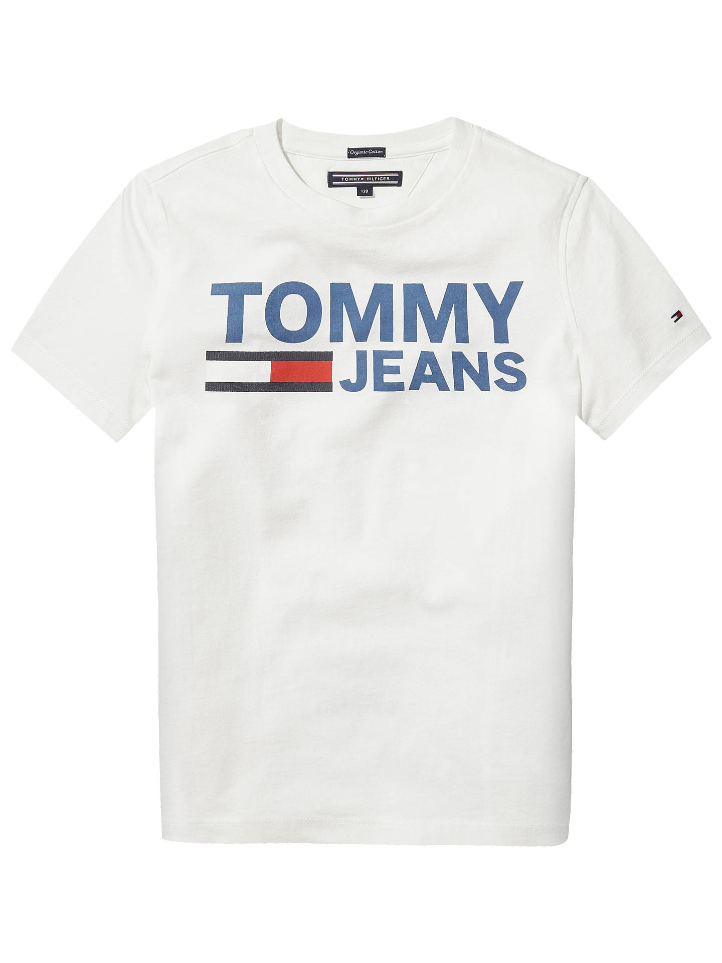 lower price with online here wholesale online Tommy Hilfiger Boys' Graphic Print T-Shirt, White at John ...