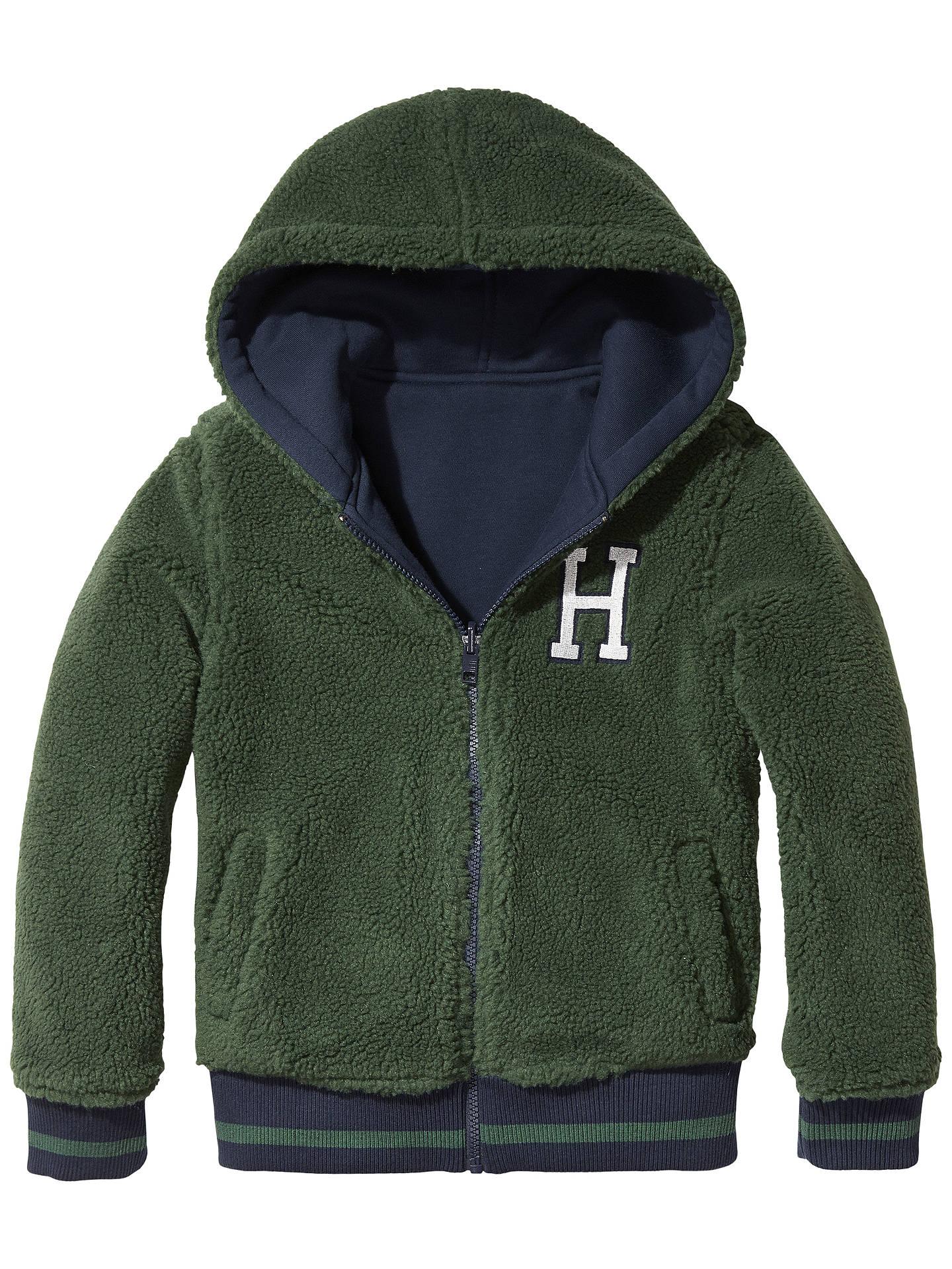 ca4c113893817c Buy Tommy Hilfiger Boys' Reversible Hoodie, Navy, 6 years Online at  johnlewis.