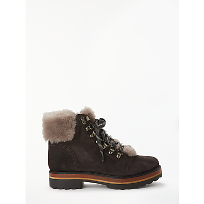 Kanna Mery Hiking Ankle Boots, Brown Suede