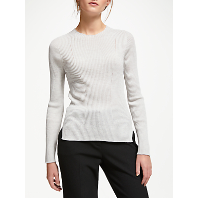 Modern Rarity J. JS Lee Merino Skinny Rib Knit Jumper, Grey