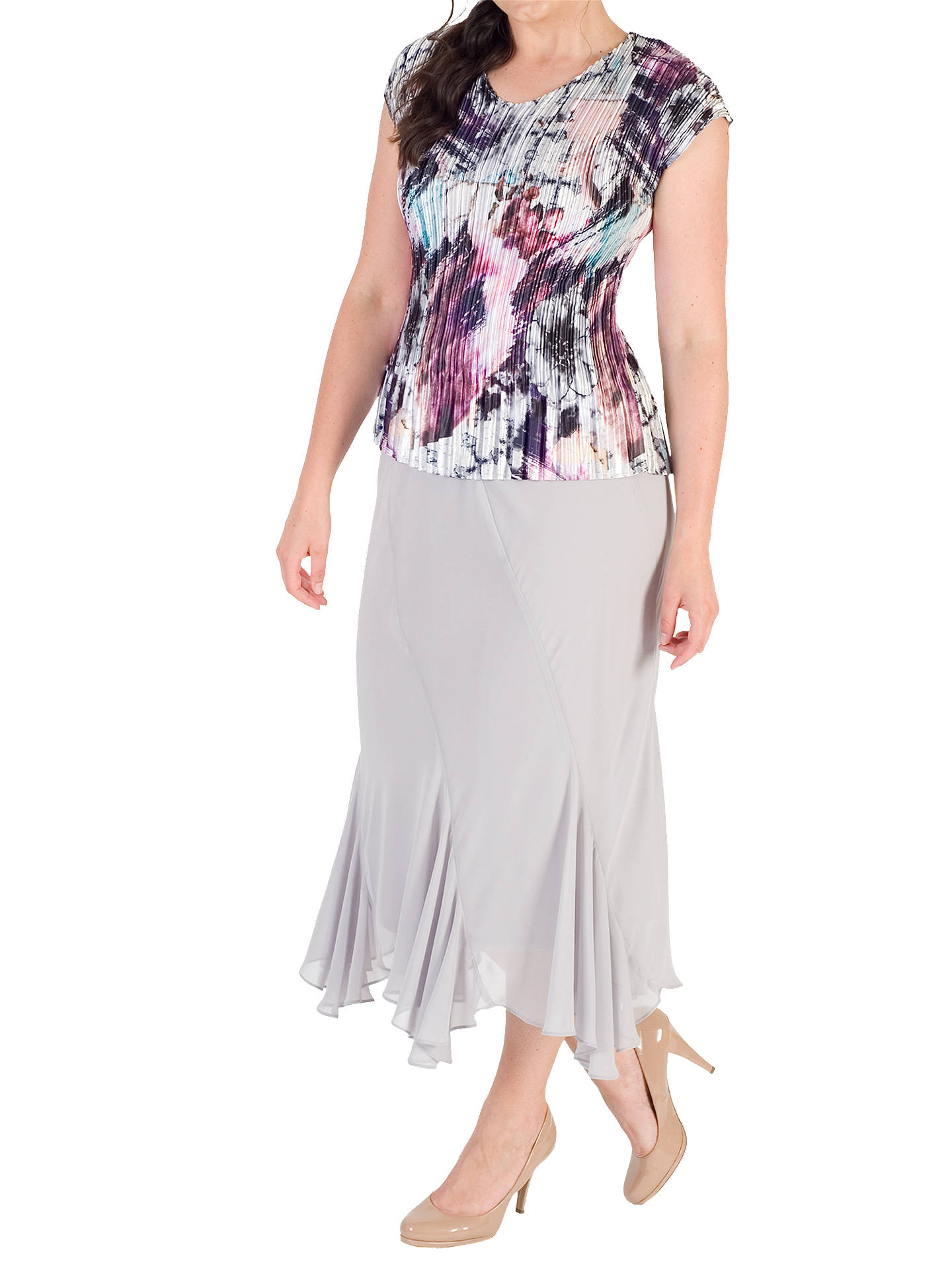 BuyChesca Pleated Top, Pink/Aqua, 12-14 Online at johnlewis.com