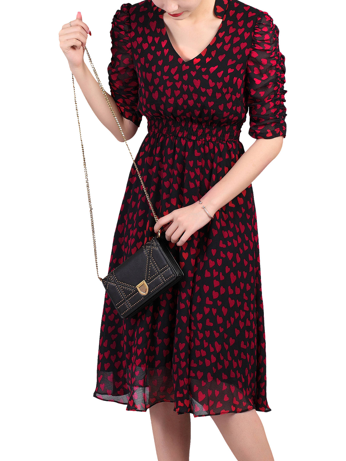 Buy Jolie Moi Retro Tea Dress, Multi Red, 8 Online at johnlewis.com