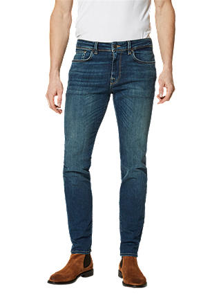 Buy SELECTED HOMME Leon Slim Fit Denim Jeans, Mid Blue, 34S Online at johnlewis.com