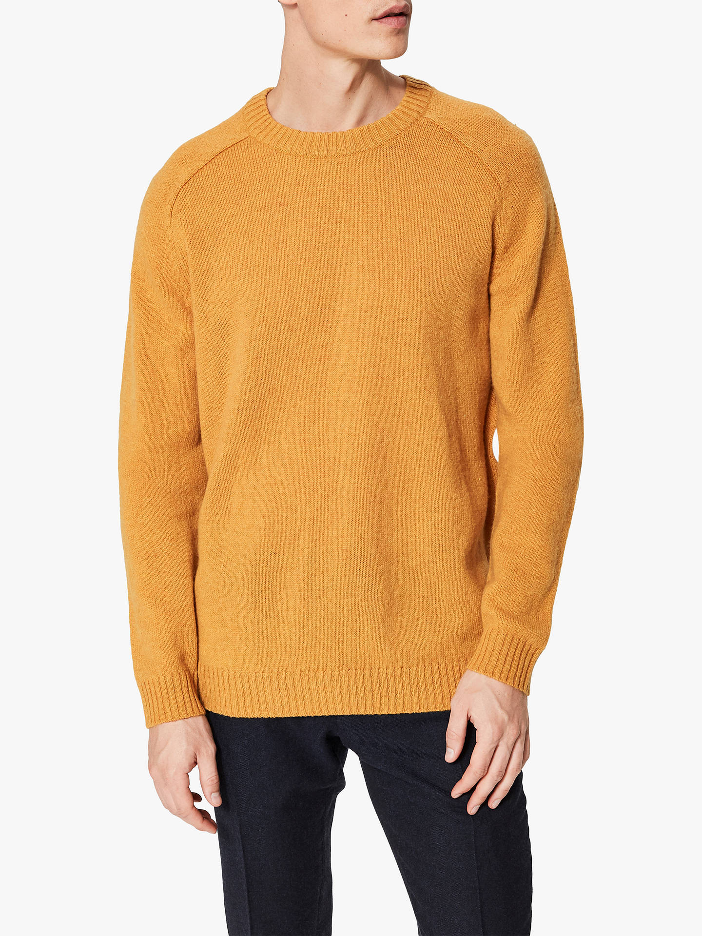Buy Selected Homme Coban Raglan Sleeve Wool Jumper, Curry Yellow, L Online at johnlewis.com