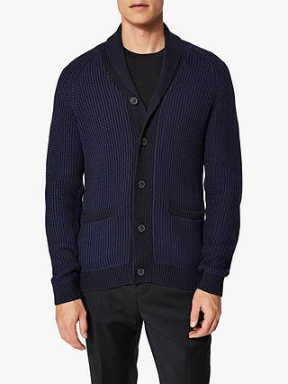 Buy Selected Homme Shawl Neck Cardigan, Medieval Blue, L Online at johnlewis.com