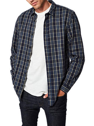 Buy SELECTED HOMME Jackson Long Sleeve Check Shirt, Dark Saphire, XL Online at johnlewis.com