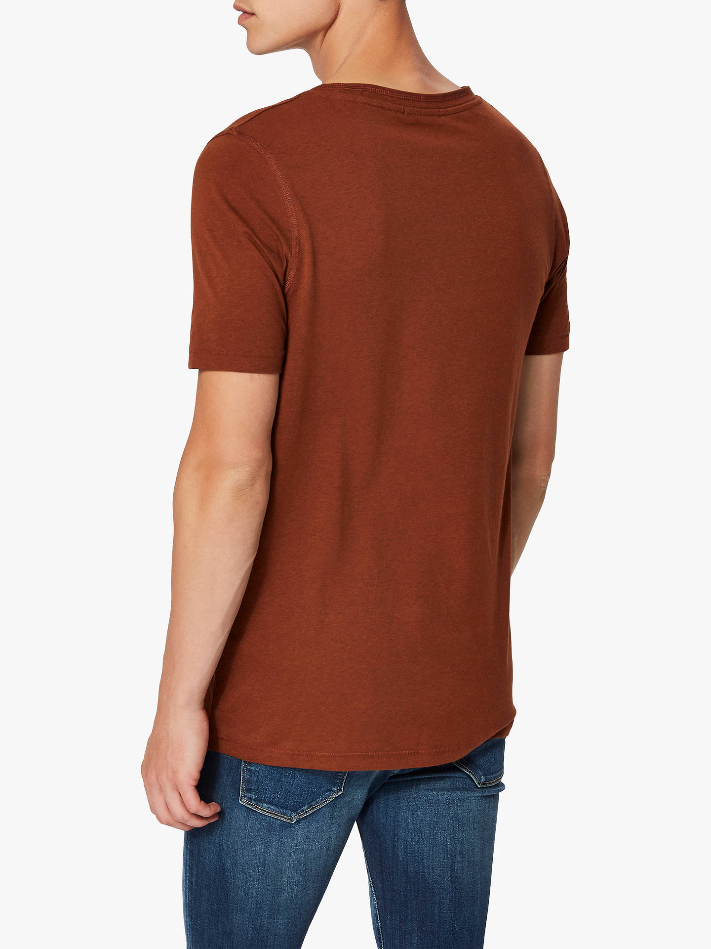 Buy Selected Homme Gary Short Sleeve Organic Cotton T-Shirt, Tortoiseshell, XL Online at johnlewis.com