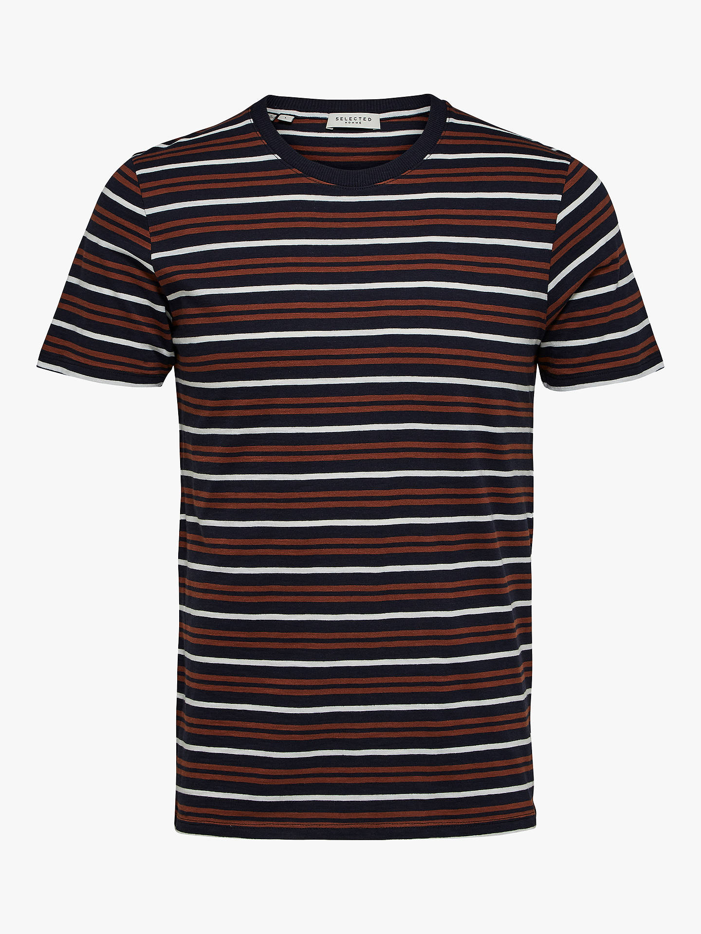 Buy Selected Homme Bruno T-Shirt, Night Sky/Tortoise, S Online at johnlewis.com