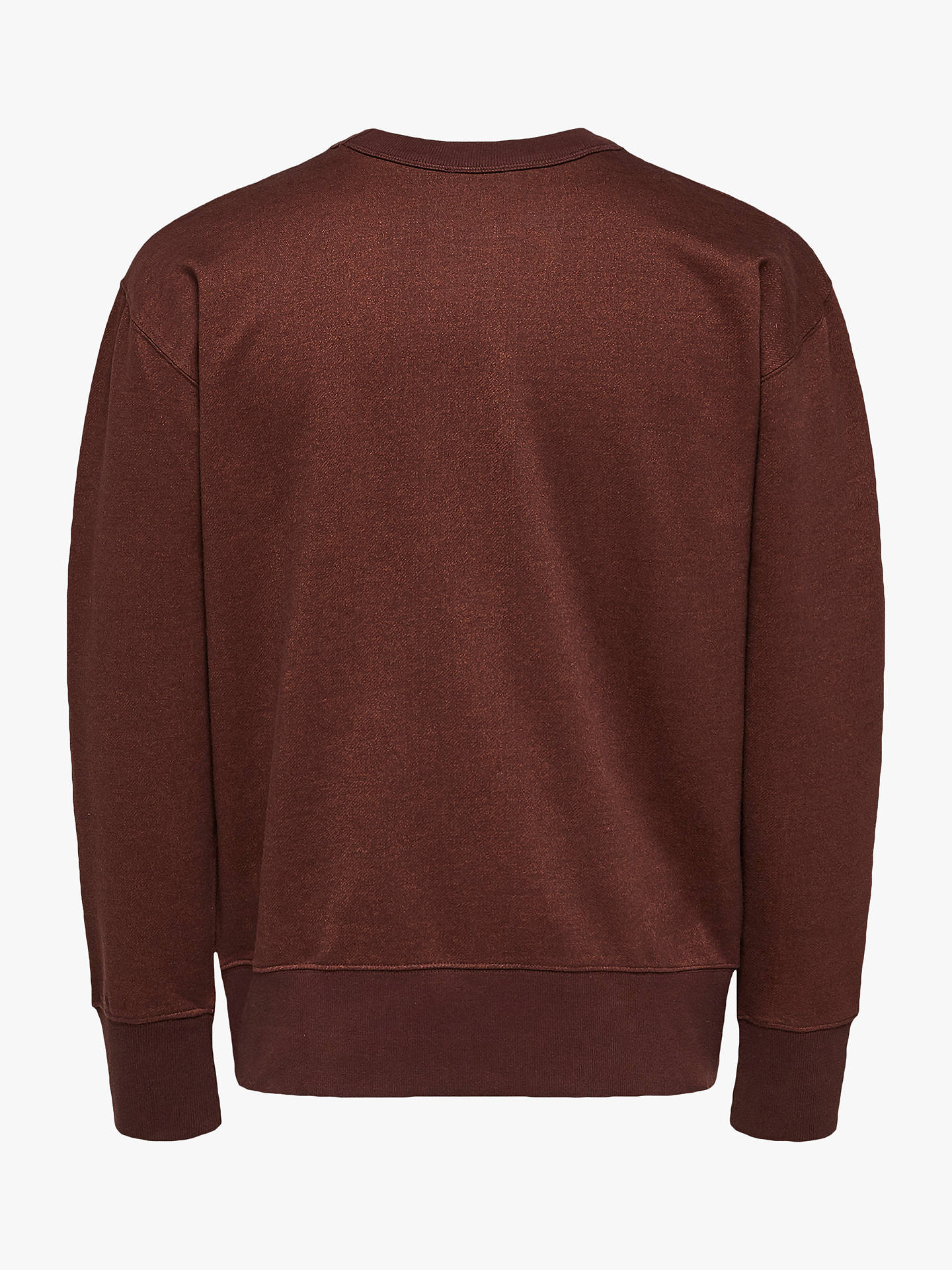 Buy Selected Homme Max Crew Neck Sweater, Bitter Chocolate, L Online at johnlewis.com