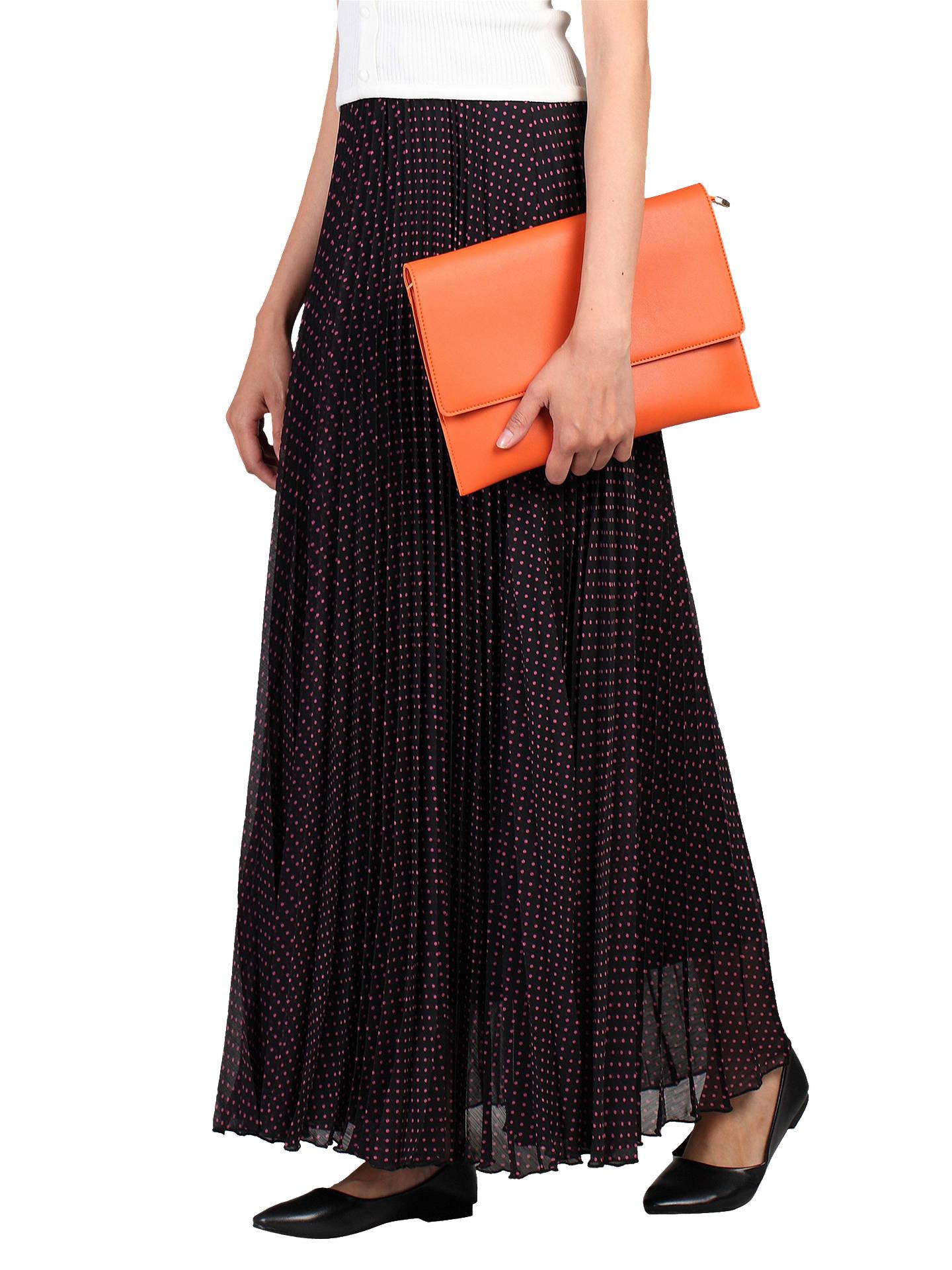 Jolie Moi Spot Print Pleated Maxi Skirt At John Lewis Partners Clothing Georgia Mini Dress Buyjolie Black Pink 16 Online Johnlewis