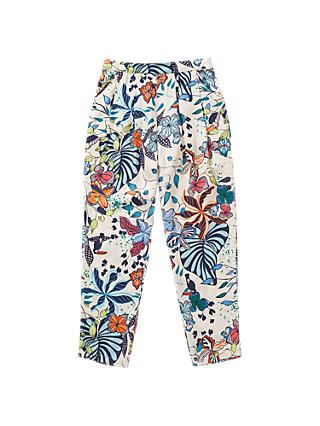 Jigsaw Girls' Palm Beach Print Trousers, Blush